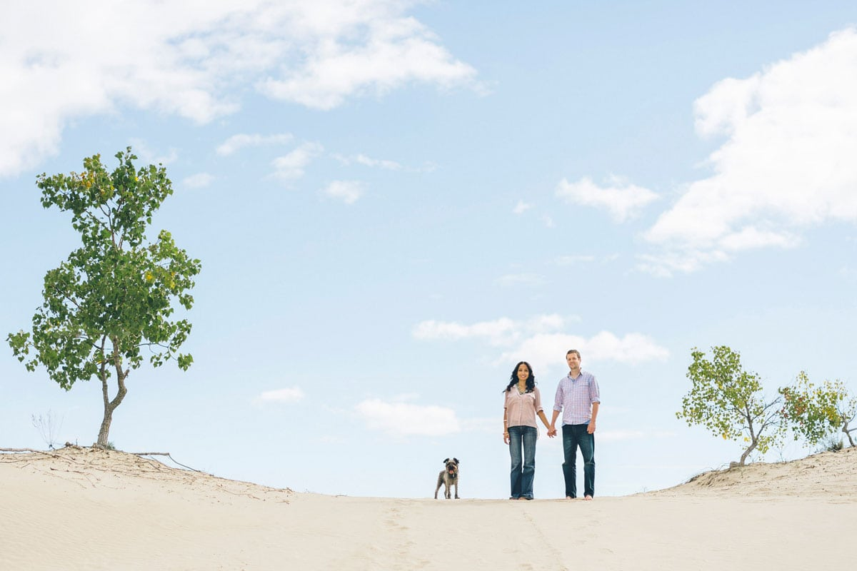 Sandbanks Prince Edward County Engagement Photos