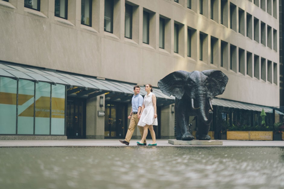 Downtown Core Toronto Engagement Photography