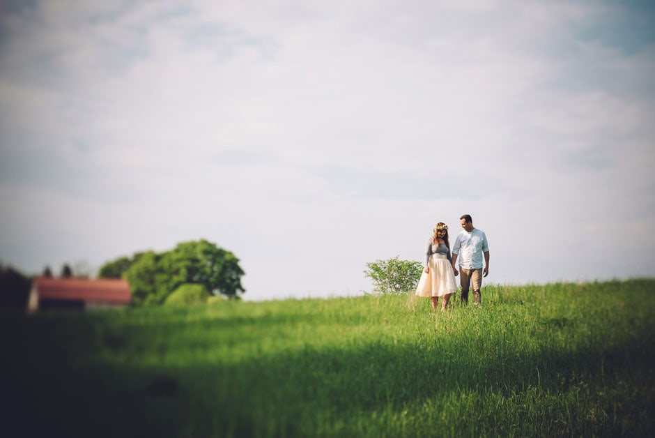 Pond Side Victorian Cottage Engagement Shoot
