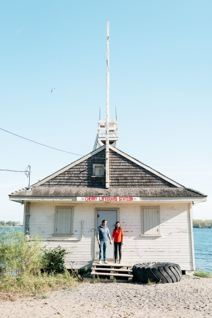 Engagement photos at Cherry Beach | Creative Wedding Photography | Toronto Wedding Studios